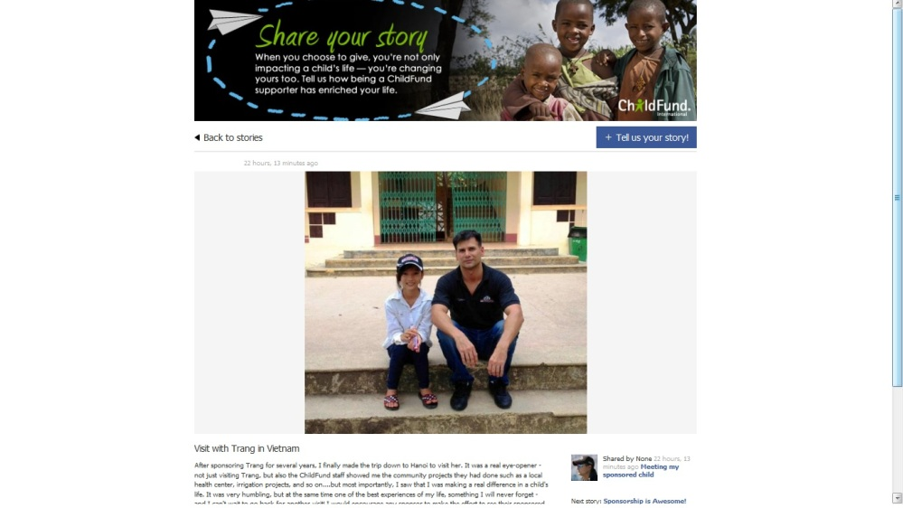 ChildFund- Sponsor Stories Blog